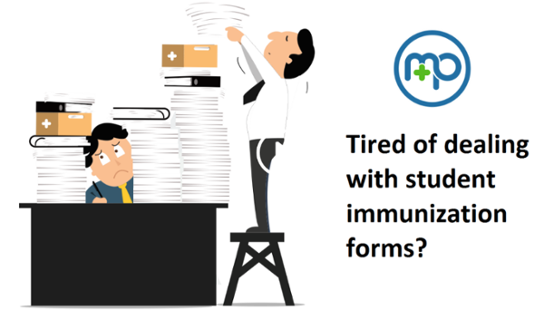 tired or dealing with student immunization forms